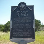 Geographic Center of Texas, Mercury, Texas Historical Marker