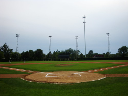 park cold home field minnesota ball town spring baseball stadium plate level behind amateur mn