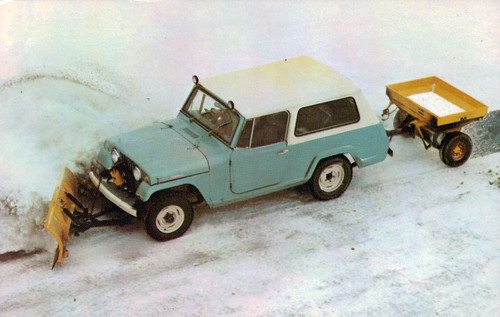 1967 Jeepster Commando with Meyer snow plow and ice control equipment