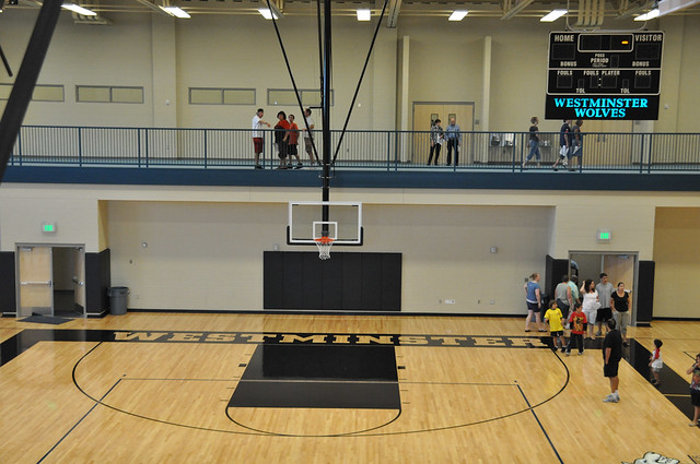 Westminster high school main gym and basketball courts flickr