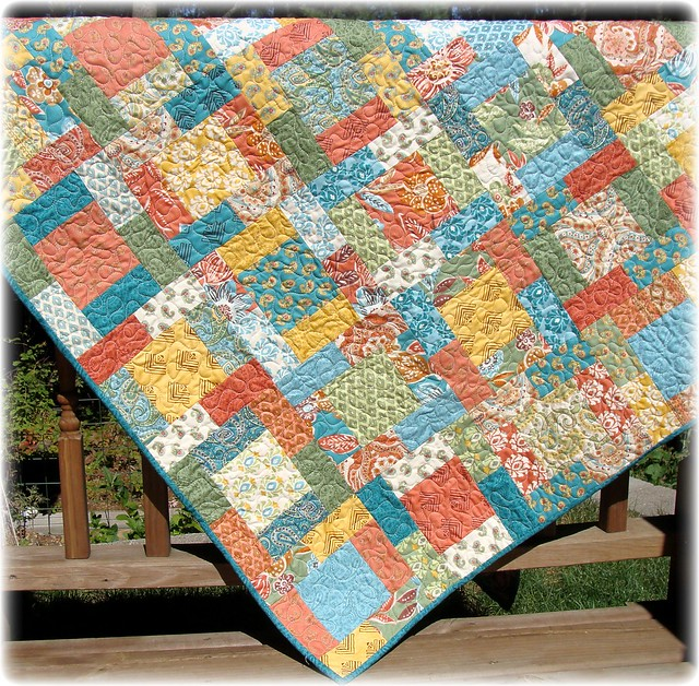 Quilting Designs For Water : Earth Air Fire and Water Scrappy Quilt Flickr - Photo ...