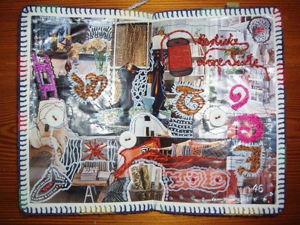 Wreck This Journal: Sew This Page.   Flickr - Photo Sharing!  Wreck This Journal Sew This Page