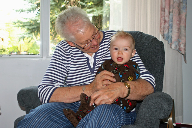 Great-Grandma & Braden