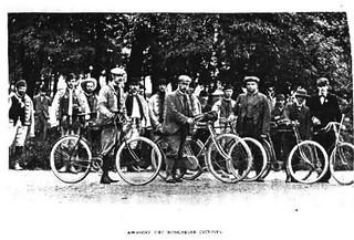 Bike traveler in Hungary, around 1900