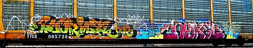 railroad train sunrise graffiti tag graf tracks railway tags tagged stamp railcar rails buff graff graphiti freight stamped buffed carcarrier trainart autorack holyroller rollingstock paintedtrain fr8 railart spraypaintart freightcar movingart paintedsteel nykel freightart sunriseone ttgx autoraxx paintedrailcar paintedfreight paintedautorack taggedrailcar autorax taggedautorack taggedfreight nykelone