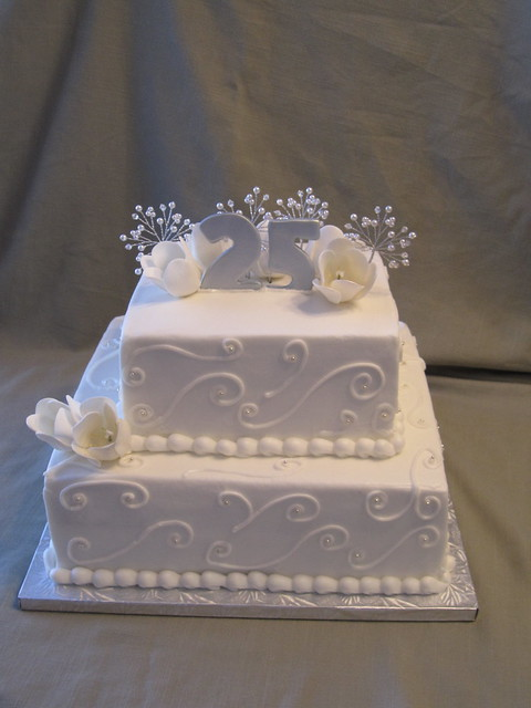 Cake Images For 25 Anniversary : 25th Wedding Anniversary Cake Flickr - Photo Sharing!