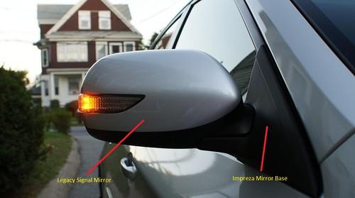 JDM Subaru Legacy Power Folding Mirrors Heated Signal Lights 2005-2009 BP BL