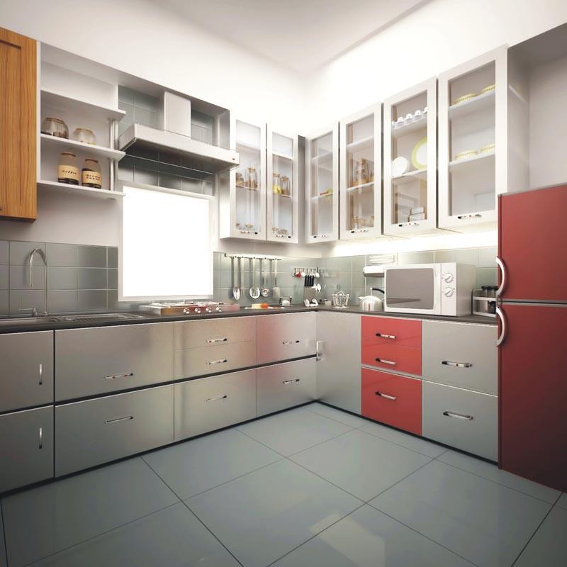 Fluidr / Designer Modular Kitchen With Chimney U0026 Hub In Nandan Inspera   2  BHK Flats At Wakad Pune By Ravi Karandeekar