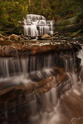 waterfall rocks tasmania liffeyfalls
