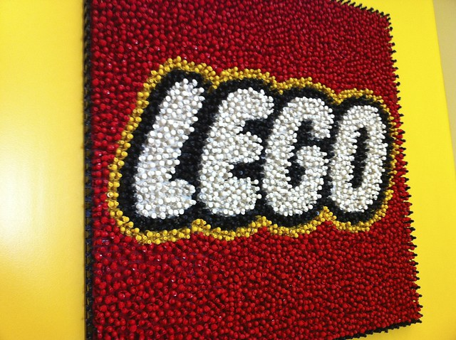 lego logo made out of minifigs flickr photo sharing