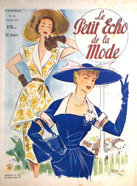 Original Le Petit Echo De La Mode French Fashion Magazine 27/5/1923
