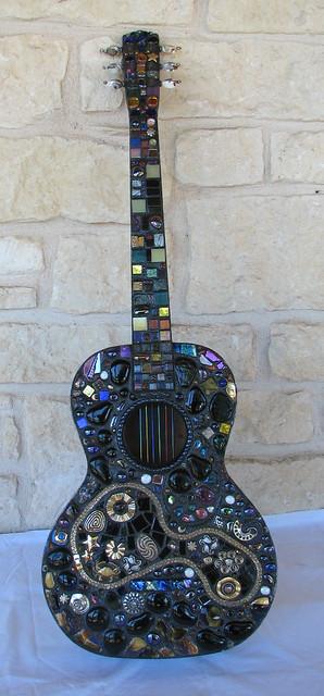 Across the Universe mosaic guitar