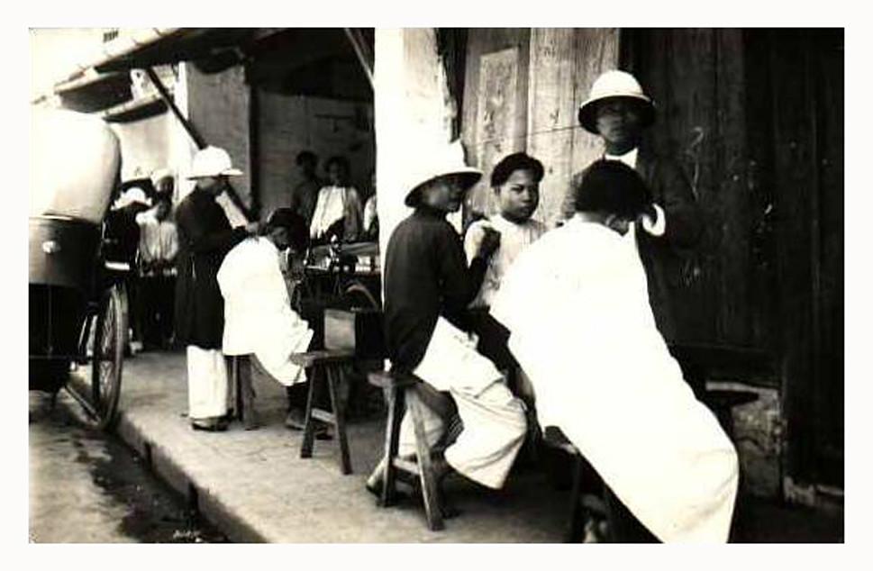 hanoi - coiffeurs ambulants