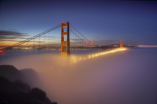 Fog at the Golden Gate #1 - San Francisco