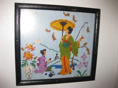 tapestry, art, textile, needlework, embroidery, cross-stitch,