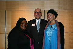 The Hijabi Monologues' Kamilah Pickett and Maytha Alhassen with Ambassador Jacobson