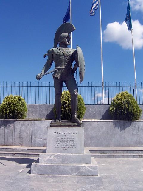 Statue of Leonidas I of Sparta (1968), Sparta