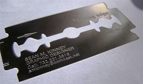 Cutting edge creative design studio business card