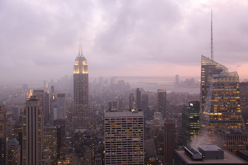 The Empire State Building from the Rockefeller Centre