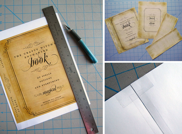 Free Book Cover Design Tutorial : Free printable spell book cover extra spookylicious