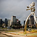 Traveling Man Sculpture Dallas Texas Deep Ellum DART Rail Station Reel FX Brandon Art Oldenberg Brad Oldham DSC_5934 by Dallas Photoworks