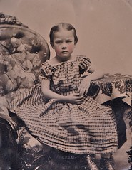 Frowning Girl, 1/9th-Plate Ruby Ambrotype, Circa 1861