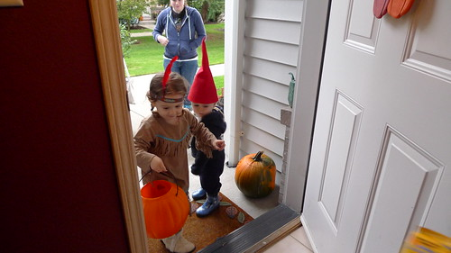 Juliana and James Trick or Treating