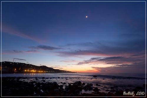 beach sunrise puerto noche muelle mar rocks cielo elsalvador turismo olas madrugada piedras malecón lalibertad