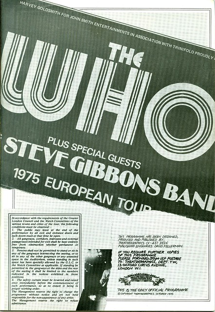 1975 - Who, The - European Tour - Side 2