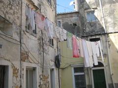 hanging laundry Κόρφου  κέρκυρα