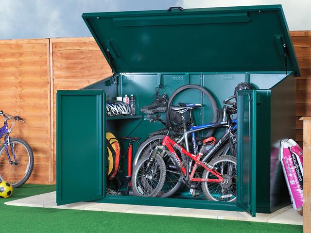 outdoor secure bike storage flickr photo sharing. Black Bedroom Furniture Sets. Home Design Ideas