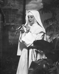 nun, monochrome photography, woman, monochrome, black-and-white, person,