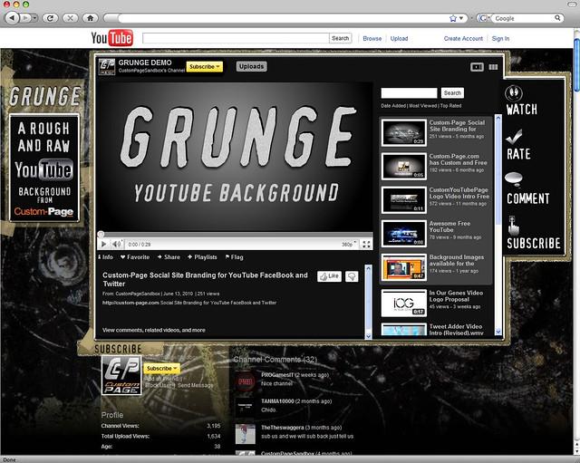 Grunge YouTube Background