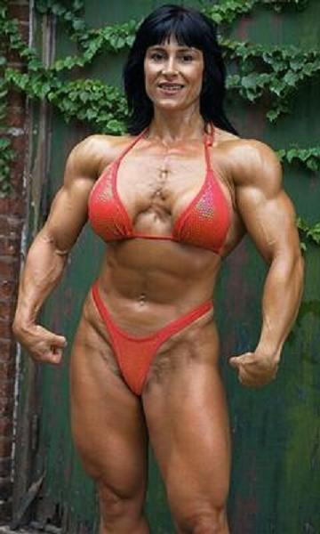 Busty naked female muscle
