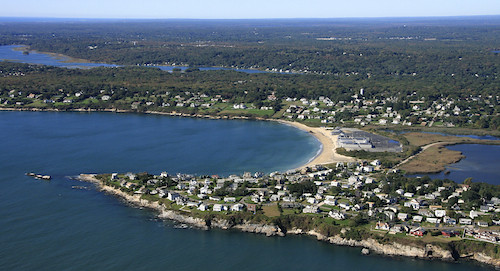 Shores Rhode Island On The Us Map