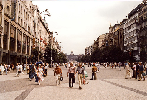 The Wenceslas Square in 1988