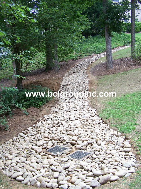 Landscape drain flickr photo sharing for French drain collection box