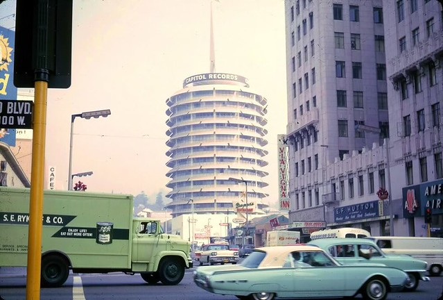 L.A. Hollywood 1962 Capitol Records Building