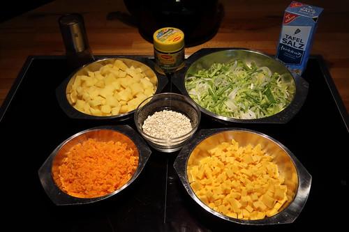 Englische Gemüsesuppe (Zutaten)