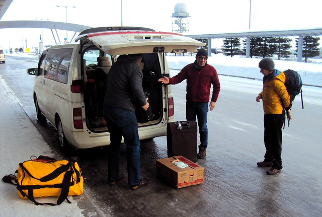 Dropping Amy and Todd at the Asahikawa Airport by bryandkeith on flickr