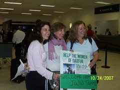 Rachel, Tzivia and Janice arrived back safely to Los Angeles