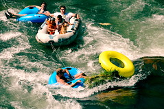 vehicle(1.0), tubing(1.0), recreation(1.0), outdoor recreation(1.0), leisure(1.0), boating(1.0), extreme sport(1.0), water sport(1.0), water park(1.0), raft(1.0), rafting(1.0),