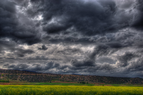 sky storm field clouds landscape colorado farm hills redrock carbondale 201008