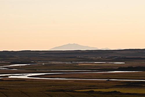 sunset sky evening iceland july glacier distance snæfellsjökull 2010 borgarfjordur borgarfjörður snaefellsjokull july2010 þorgautsstaðir 1872010