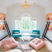 Bunk Room in White, Orange + Aqua