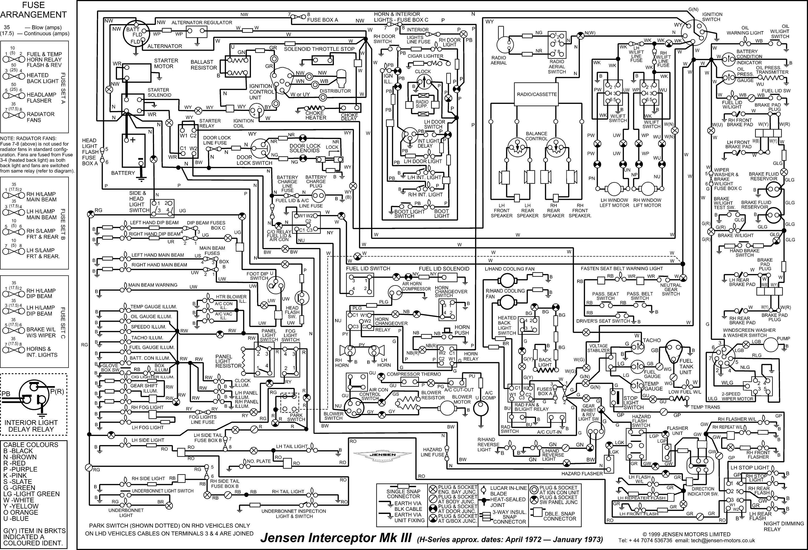 jensen interceptor wiring diagram wiring library diagram h7