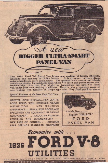 1935 Ford V8 Panel Van Truck Ad Flickr Photo Sharing