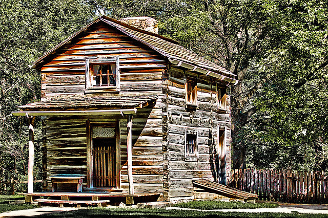 2 Story Log Cabin Hdr Flickr Photo Sharing