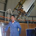 Bill Nye at Rachel, 20-inch refracting telescope