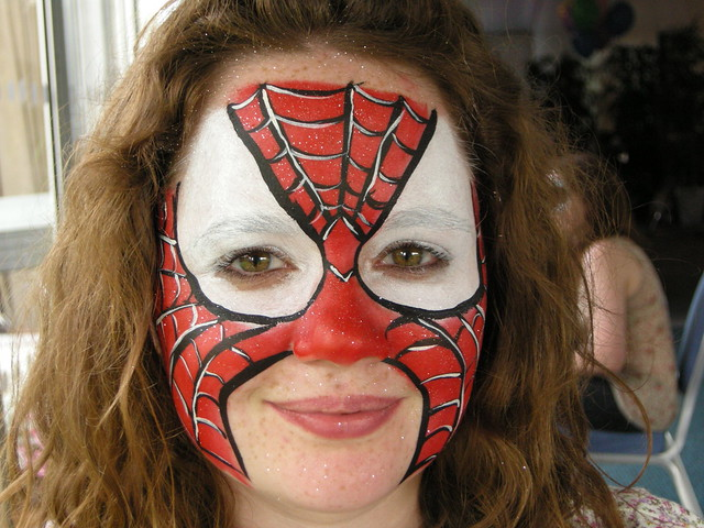 Spiderman Face Painting Flickr Photo Sharing
